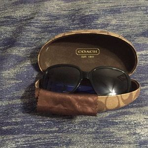 EEUC Coach Sunglasses Black/Blue